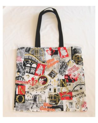 New Orleans Jazz Cotton Print Tote Bag
