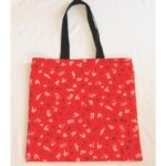 Notes Cotton Print Tote Bag