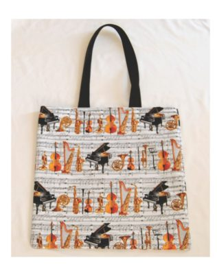 Orchestra Cotton Print Tote Bag