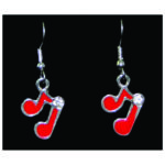 Red Note Earrings