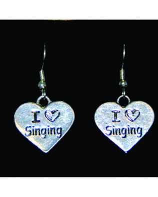 I Love Singing Earrings
