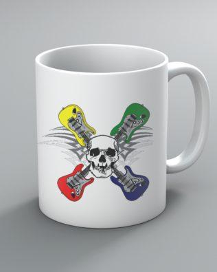 Skull and Crossed Guitars Mug