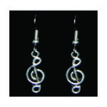 Small Treble Clef Earrings
