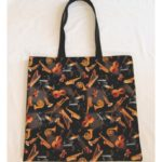 Tossed Instruments Cotton Print Tote Bag