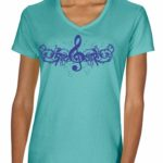 Treble Clef V-neck T-shirt