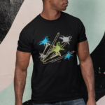 Neon Splash Trombone T-shirt