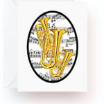 Tuba With Music Note Cards