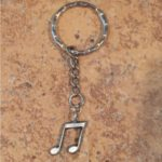 Eighth Notes Key Ring