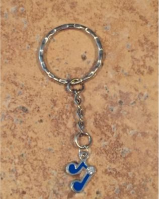 Blue Notes Key Ring