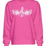 Treble Clef Design Sweatshirt
