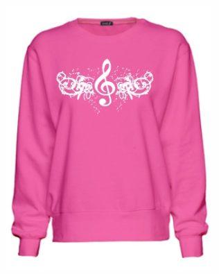 Treble Clef Design Sweatshirt