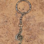 Antique Look Treble Clef Key Ring