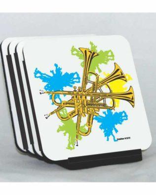 Neon Trumpets Coaster Set