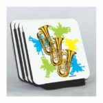 Neon Tubas Coaster Set