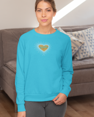 Music Glitter and Rhinestone Design Sweatshirt
