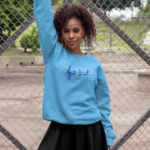 Staff and Notes Rhinestone Design Sweatshirt