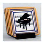Grand Piano Coaster Set