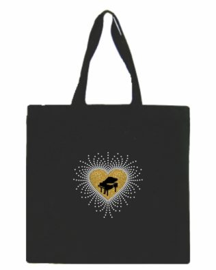 Grand Piano Canvas Tote Bag