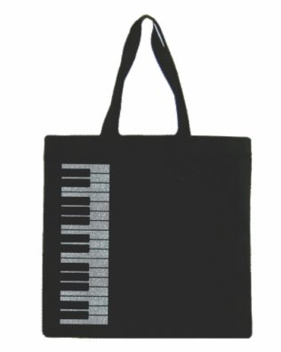 Silver Keyboard Canvas Tote Bag