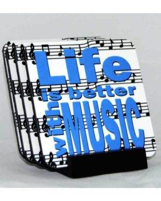 Life is Better With Music Coaster Set