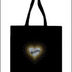 Music in Heart Glitter Canvas Tote Bag