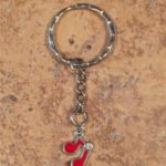 Red Notes Key Ring