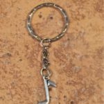 Silver Note Key Ring