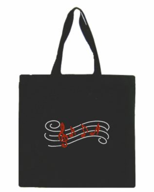 Staff and Notes Glitter Canvas Tote Bag