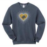 Grand Piano Glitter and Rhinestone Design Sweatshirt