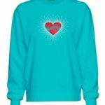Music Glitter and Rhinestone Design Sweatshirt