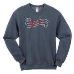 Staff and Notes Rhinestone Design Sweatshirt