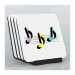 Eighth Note Trio Coaster Set