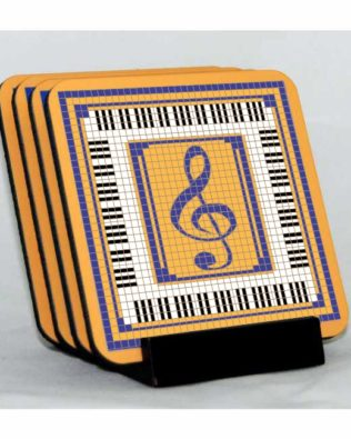 Clef & Keys Coaster Set