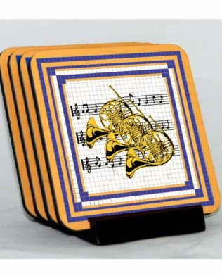 French Horns Coaster Set