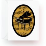 Grand Piano With Music Note Cards