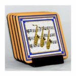 Saxophone Coaster Set