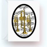 Trumpets With Music Note Cards