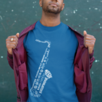 Saxophone in Words T-Shirt