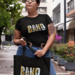 Band With Instruments Tote Bag